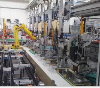 Image realization Water softener's assembly line CTF Automazioni Srl