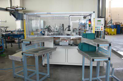 Image realization Dishwashers hinges assembly machine CTF Automazioni Srl