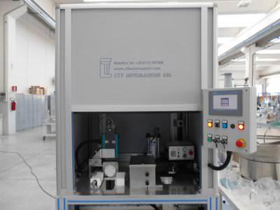 Image realization Pitcher handle gluing machine CTF Automazioni Srl