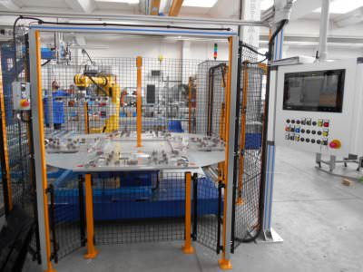 Image realization Gluing line for induction cooker CTF Automazioni Srl