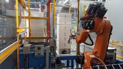 Image realization Automatic station to assembly the compressor on the compressor support bar  CTF Automazioni Srl
