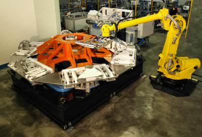 Immagine realizzazione Automazione assemblaggio scocca per cappa aspirante CTF Automazioni Srl