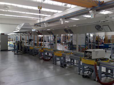Image realization Water heater assembly line CTF Automazioni Srl