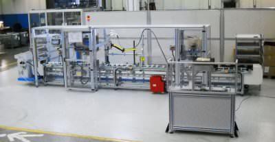 Immagine realizzazione Assemblaggio semiautomatico, controllo e marcatura del filtro aria AMG M133 CTF Automazioni Srl