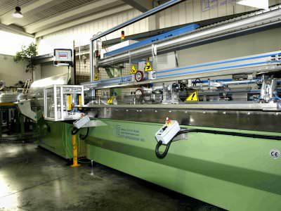 Image realization Thin Pipe assembly adhesive tape CTF Automazioni Srl