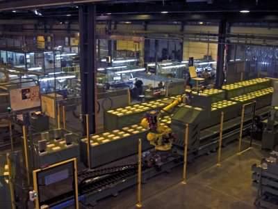 Immagine realizzazione  Sistema di movimentazione e immagazzinamento settori di stampo pneumatici CTF Automazioni Srl