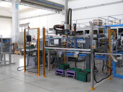 Image realization Electric motors assembly line CTF Automazioni Srl