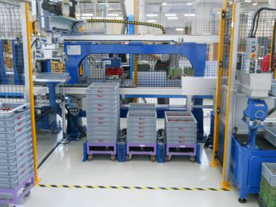 Image realization A-C electric motor assembly line CTF Automazioni Srl