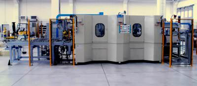 Immagine realizzazione Linea foratura e maschiatura crocere lavatrici CTF Automazioni Srl