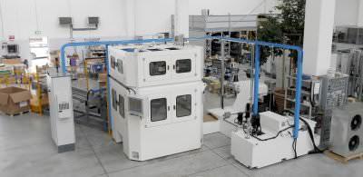Immagine realizzazione Macchina CN transfer per la lavorazione cuscinetti calotte motori CTF Automazioni Srl