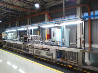 Image realization Hob assembly line CTF Automazioni Srl